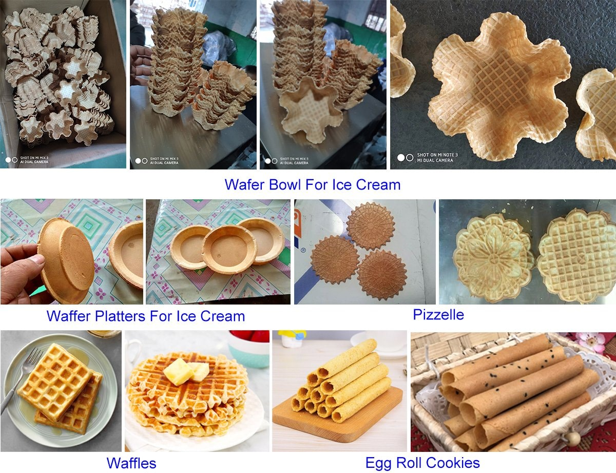 Wafer Bowl Waffles Egg Roll Cookies Sample Pictures