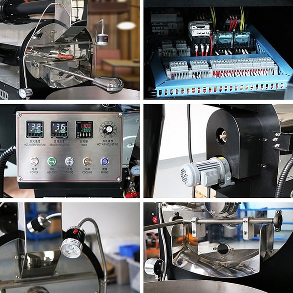 Pictures of Coffee Roaster Details Part