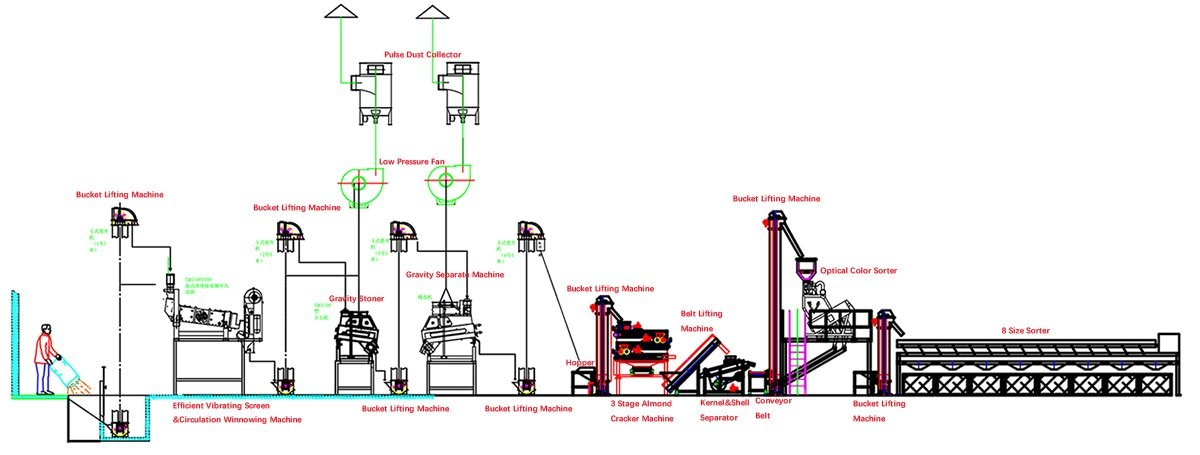 Layout Drawing of Almond Processing Plant